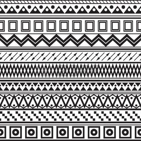 Tribal gestreepte naadloze patroon Geometrische zwart-witte achtergrond Stalen van naadloze patroon in het bestand