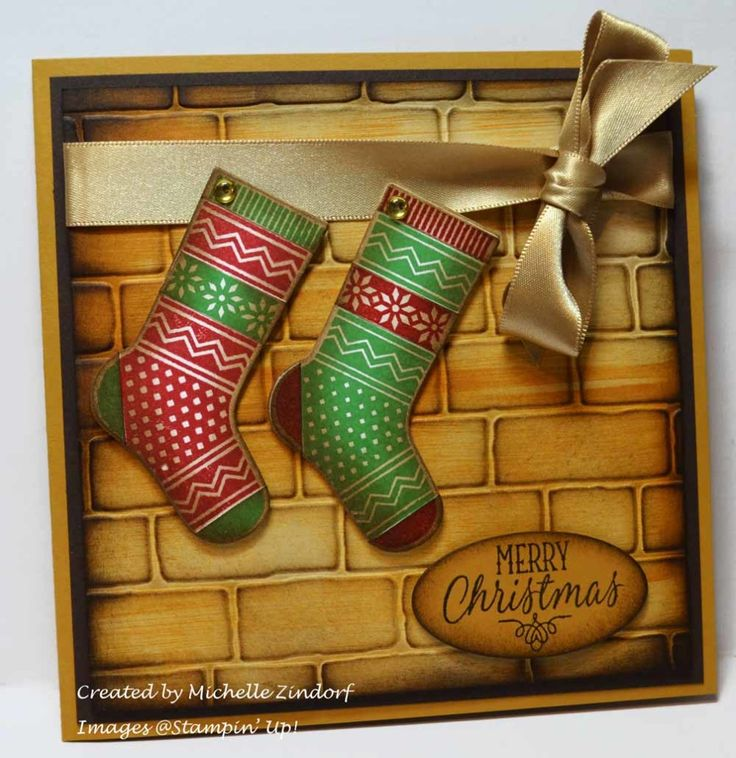 Hang Your Stocking Stampin' Up! Card created by Michelle Zindorf