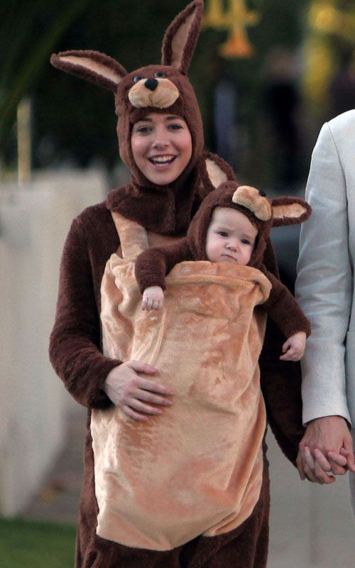 Alyson Hannigan and Baby Kangaroo On Halloween