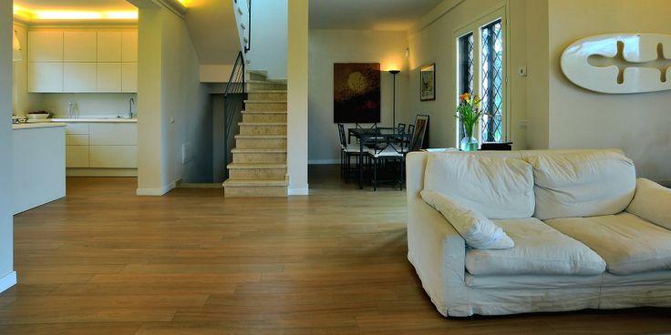 #Coem progetti #effetto legno #residenza privata # gres porcellanato