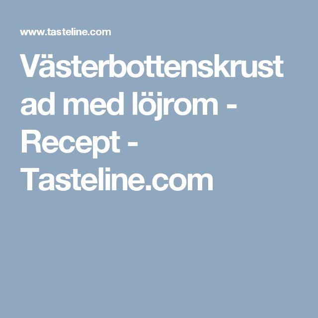 Västerbottenskrustad med löjrom - Recept - Tasteline.com
