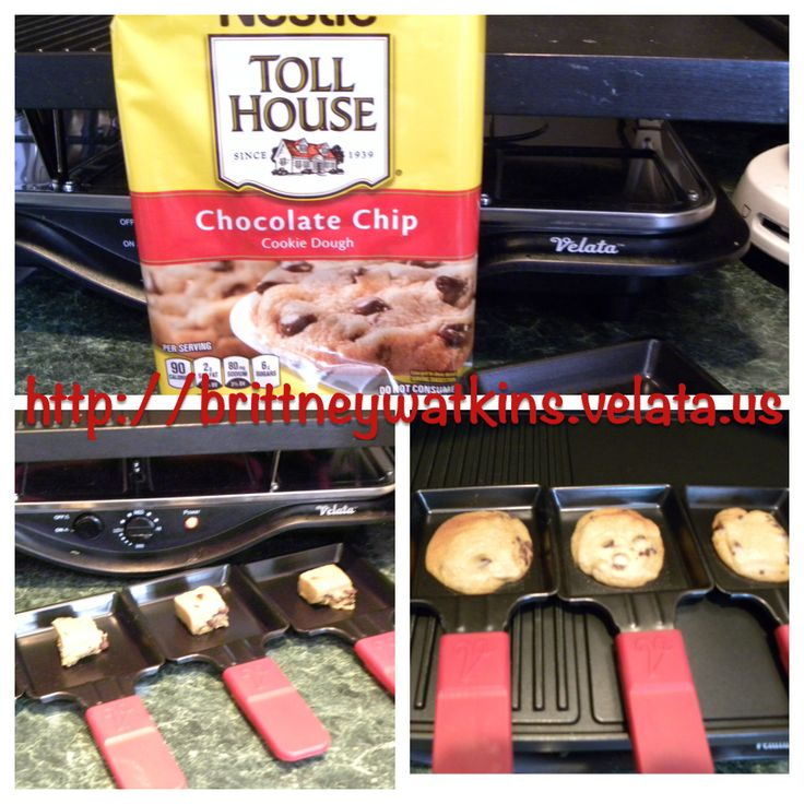 Making Toll House Cookies using the Velata Raclette.  Quick and Easy and little clean up!  I love My Velata Raclette