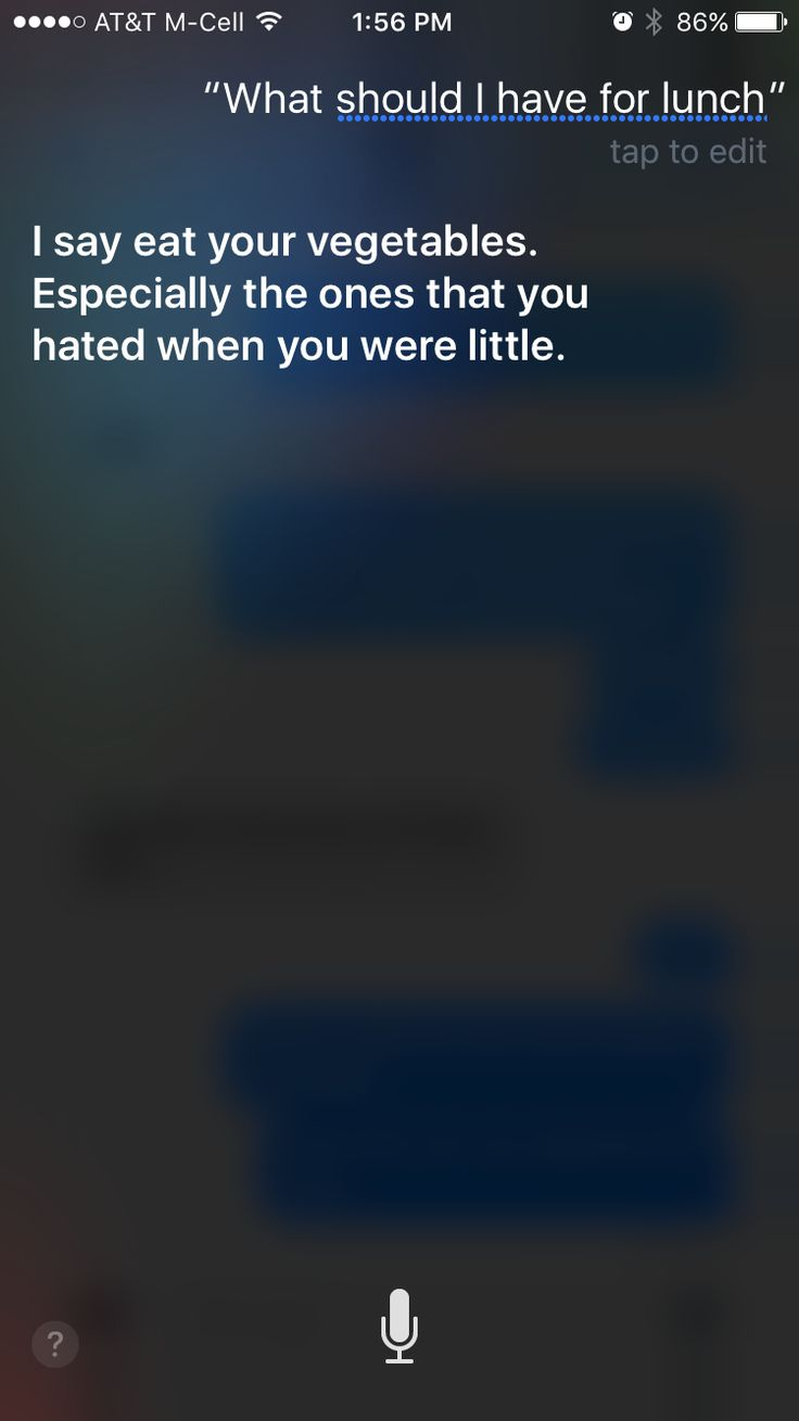 What to ask Siri.