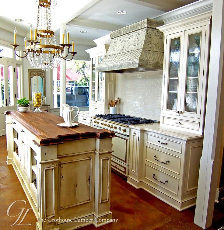 Walnut Wood Countertop Kitchen Island New Orleans, Louisiana https://www.glumber.com/