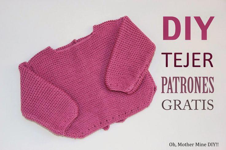 DIY Tejer un jersey de lana para bebé (patrones gratis)
