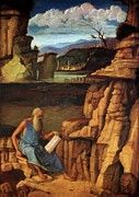 "New artwork for sale! - "" St Jerome Reading In The Countryside 1485 by Bellini Giovanni "" - http://ift.tt/2hszFxe"