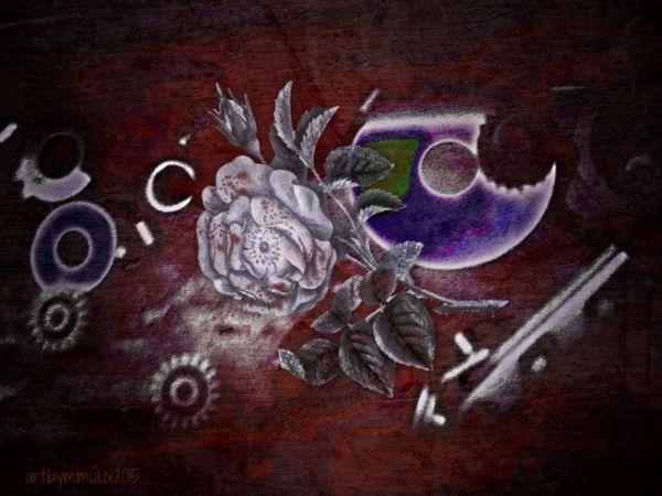 """my first contribution to our VisionDialogue Blog  from """"Cogs and Wheels"""" to """"A CRIME OF PASSION"""" dark digital art by mimulux patricia no"""