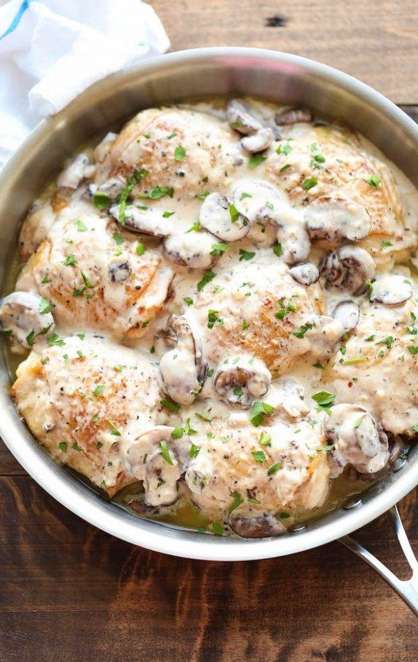 Chicken with Creamy Mushroom Sauce Recipe | Food ...