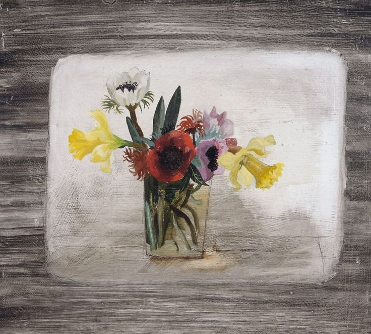 Flowers (1930) by Christopher Wood. Oils on board, Kettles Yard.
