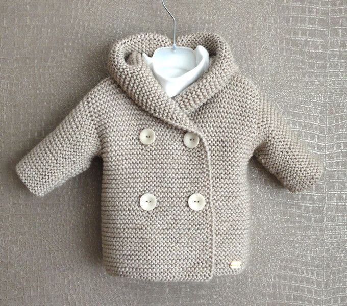 Baby Strickjacke Mit Kapuze Stricken - Fleece Vest Jacket