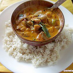 My all-time favorite; Thai red Curry with brown rice