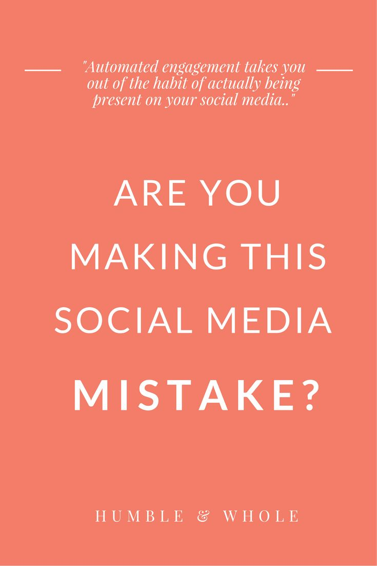 Are You Making this Social Media Mistake?