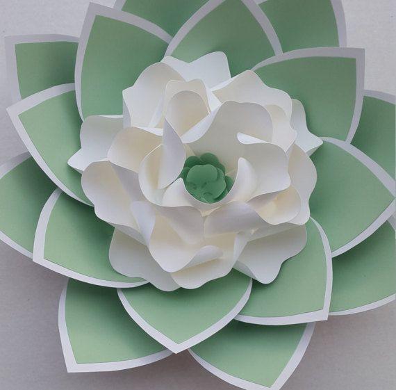 Plantilla/patrón de la flor de papel flor de papel DIY  SVG