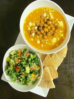 ... .mynewsportal.net - Carrot Soup with Tahini and Crisped Chickpeas