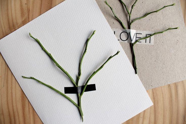 Minimalistin Jouluvinkit // DIY joulukortti  http://ekojohanna.blogspot.fi/2014/11/minimalistin-jouluvinkit-diy-joulukortti.html
