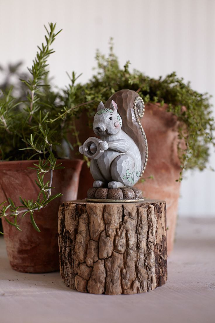 New garden themed squirrel from Jim Shore.
