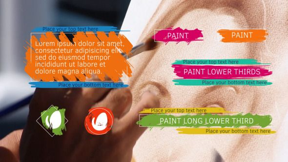 Paint Lower Thirds  • After Effects Template • See it in action ➝ https://videohive.net/item/paint-lower-thirds/13106505?ref=pxcr