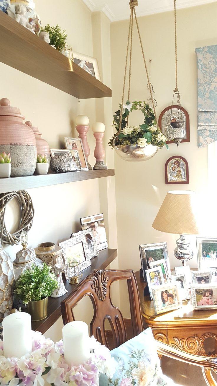 Interior decor in living room diy flowers