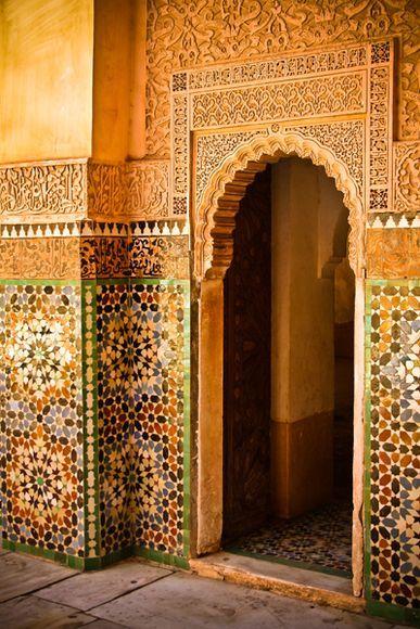 Ben Yussuf Madrasa  Photograph byLeire Unzueta  Marrakech, Morocco