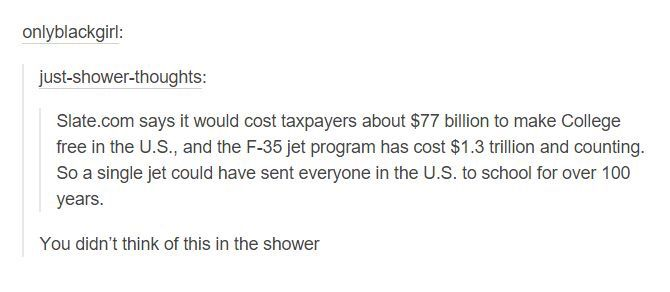 Get your fucking country together and help other people for damn once instead of worrying about your damn private ass jets