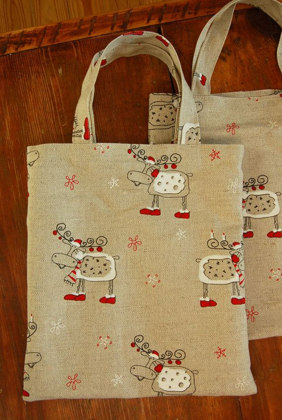 Organic linen Christmas market shopping bag by hannasboutique, $14.00