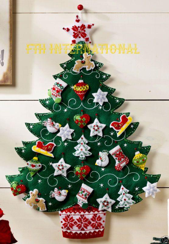 Bucilla nórdicos árbol de Navidad ~ Fieltro Calendario De Adviento Kit 86584 Nuevas Europeas 2015