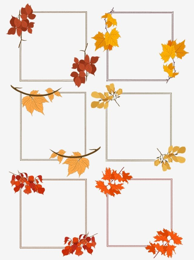 Hand Drawn Autumn Leaves Plant Nostalgic Border Hand Painted Plant Autumn Leaves Png Transparent Clipart Image And Psd File For Free Download Autumn Leaves How To Draw Hands Hand Painted