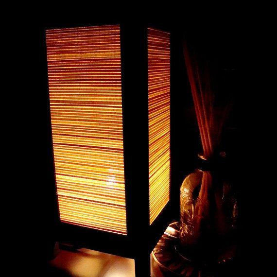 La nature bambou armure Table lampe éclairage nuances étage Bureau pièce extérieure chambre Vintage fait main asiatique Oriental bois chevet cadeau maison