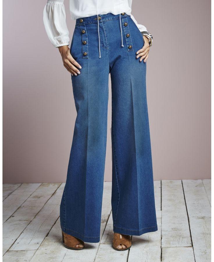 Plus Size Wide Leg Jeans - Sizes 8 - 24