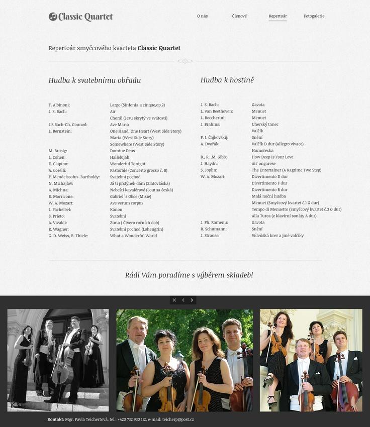 Classic Quartet - Repertoár