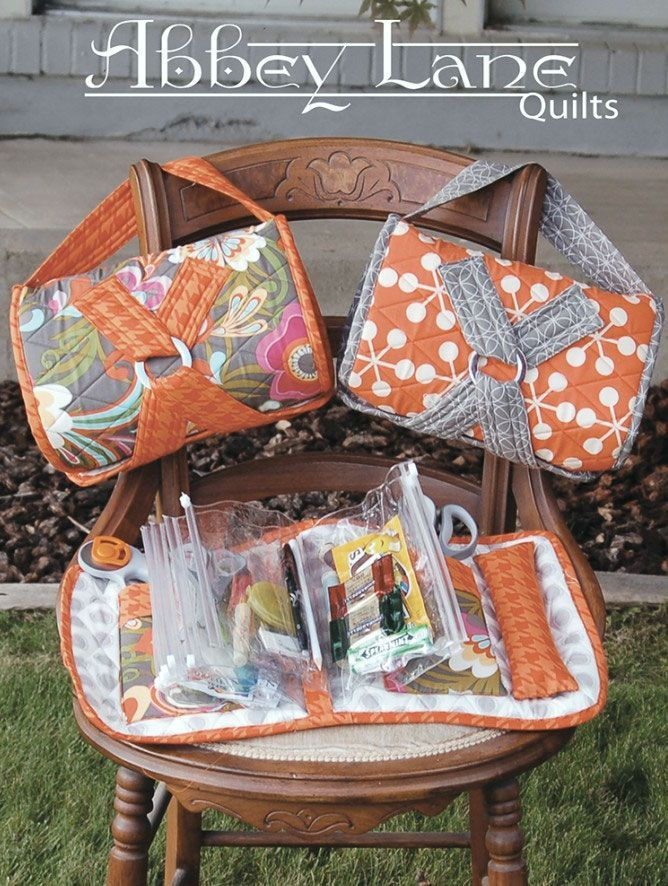 NEW EDISON BAG QUILTING PATTERN With 4 Inserts From Abbey Lane Quilts