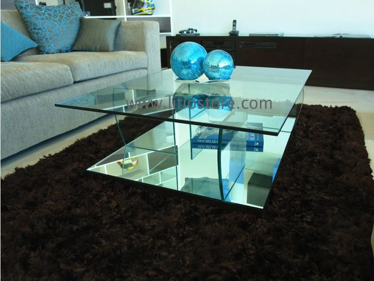 mesa de centro cristal pinterest