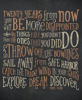 Sail Away from Safe Harbor Art Print