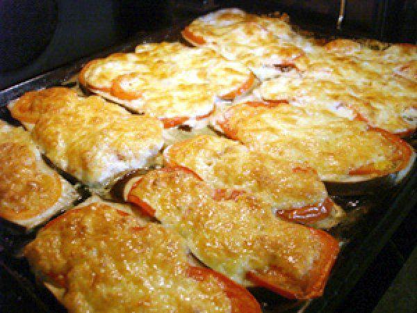 Баклажаны с сыром и карри