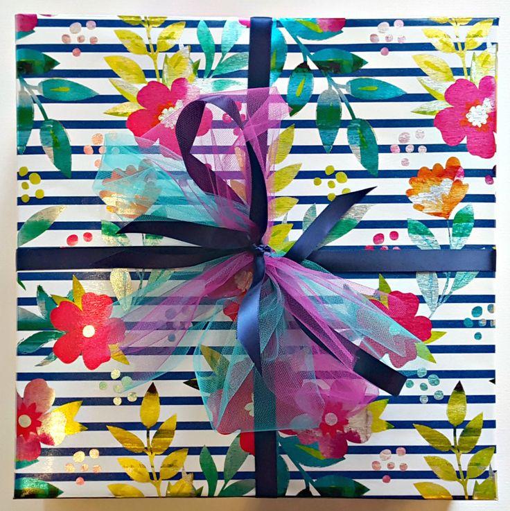 Gift Wrap Service - Parisian Floral Stripe