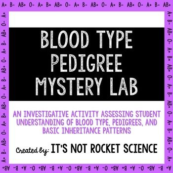 I love connecting to students to the real world in biology.  Plus all students love a murder mystery!  Such a fun and engaging lab activity on blood type, pedigrees, and heredity.