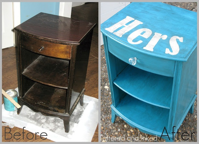 Tattered And Inked: A Little Twist On An Old End Table