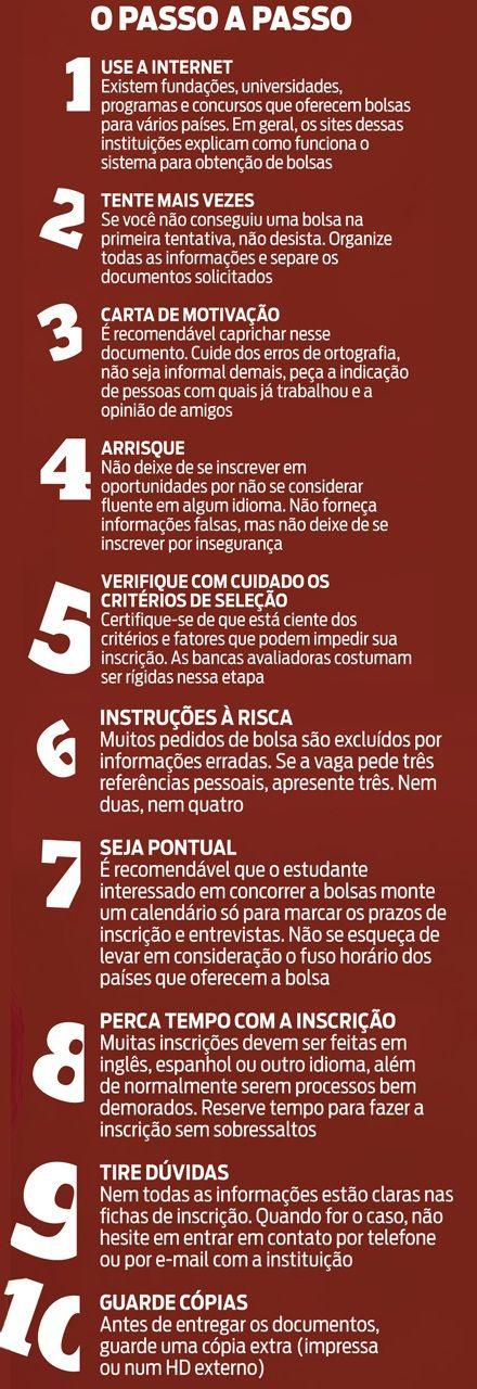 Bolsas de Estudos: 10 passos para obter uma Bolsa