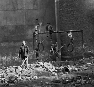"Ken Russell, Boys on Bombsites, 1954. ""They did what they liked, and then went home for their tea."""