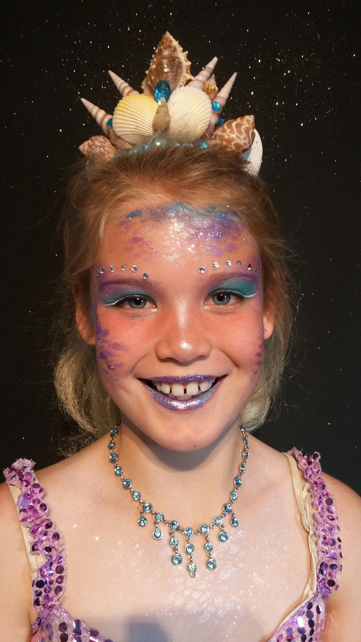 Zeemeermin schmink en kroontje door #niekiekidsdesign