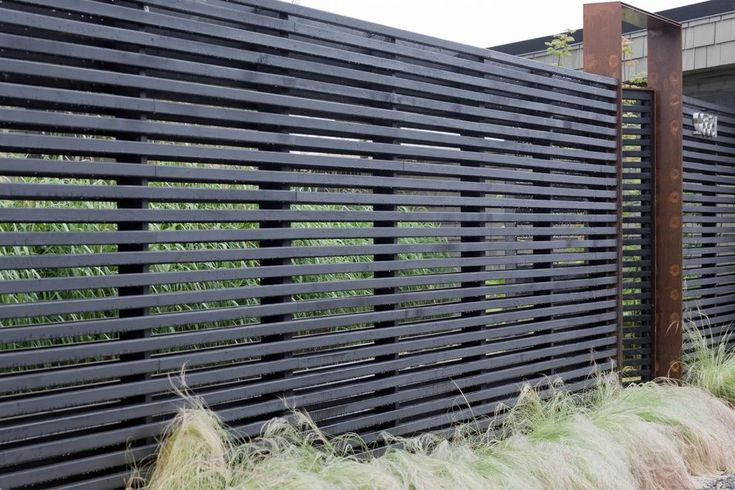 seattle cedar fence with septic tank services landscape modern and muted horizontal