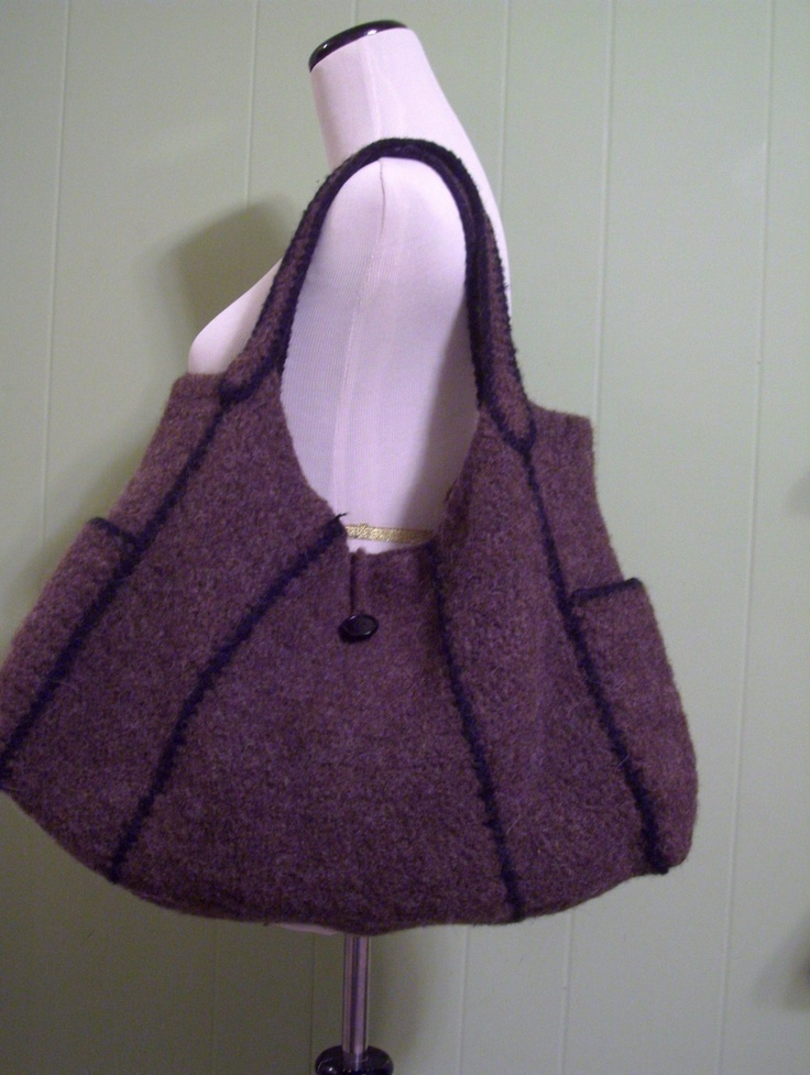 love this felted bag.  It was knitted then felted.