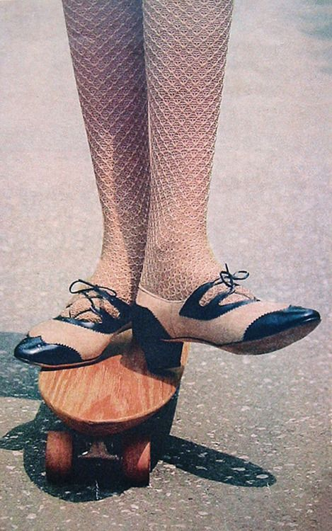 60's fashion shoes. 1966 Christian Dior textured stockings.