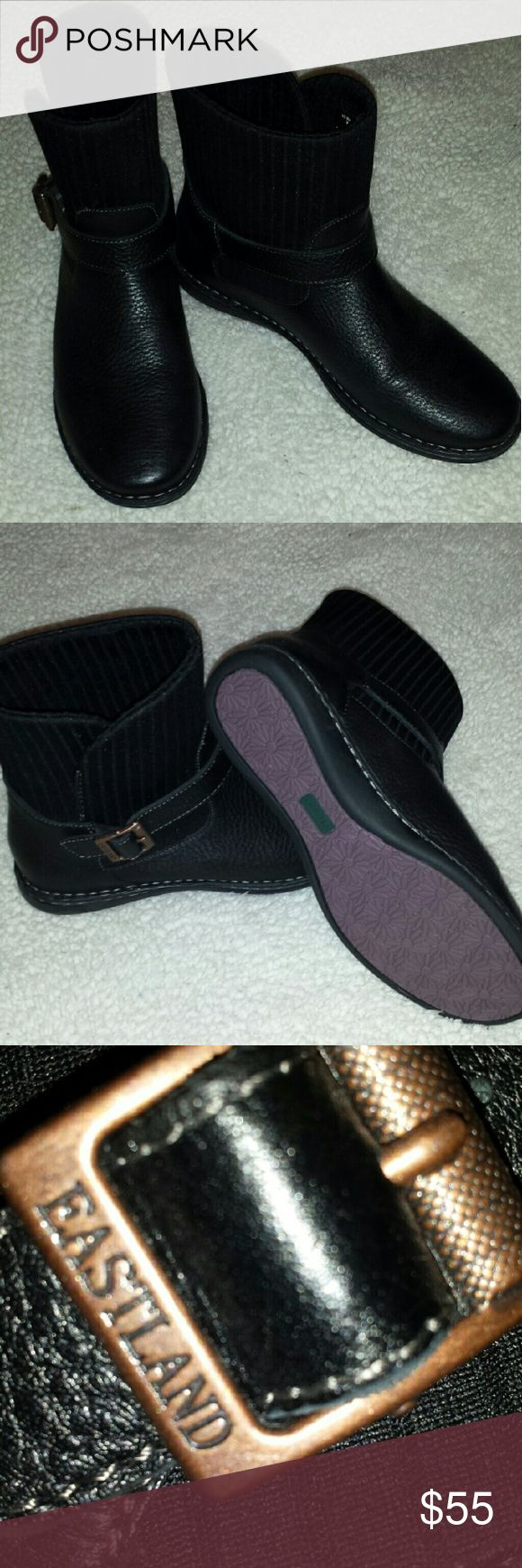 Eastland booties Black Eastland booties. NWOT. In original box. Eastland Shoes Ankle Boots & Booties