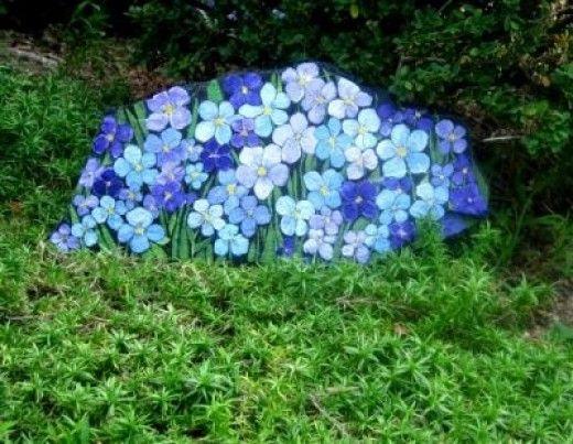 Hand Painting Flowers U0026 Fairies On Garden Rocks