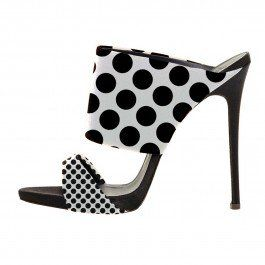 How about this shoe?  Share to get a coupon for all on FSJ Classic Black and White Polka Dots Slippers Mule Sandals