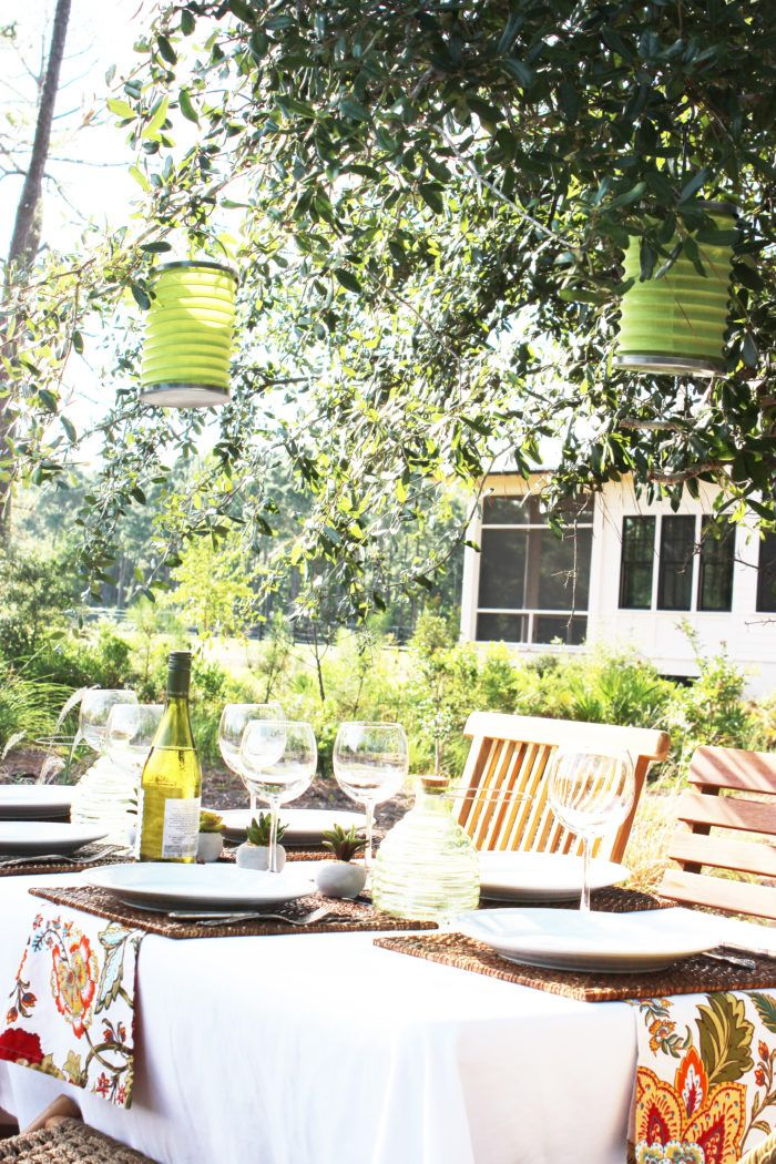 Low Country Style DINING ALFRESCO UNDER THE OAK TREE by Simple Nature Decor.