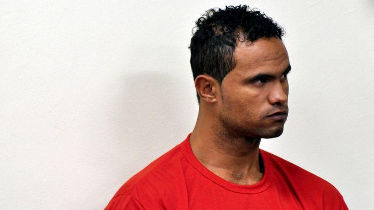 Ex-Flamengo-Torhüter Bruno 2013 während der Urteilsverkündung von 22 Jahren Haft (u.a. wegen Mordes). Jetzt ist er auf freiem Fuß