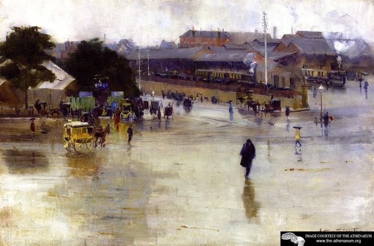 Australian impressionist Arthur Streeton's 'Redfern Station'.