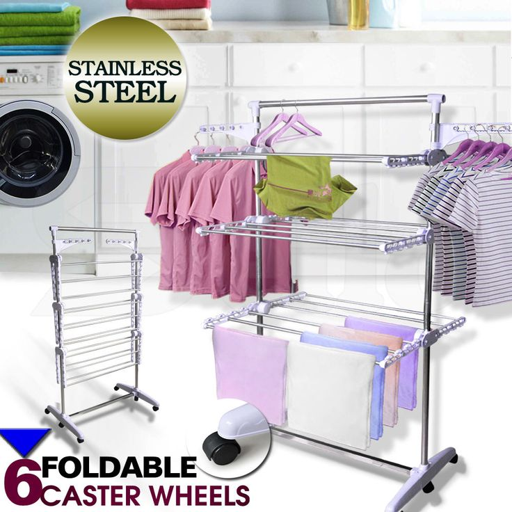Portable 6 Tiers Indoor Clothes Airer Horse Laundry Drying Rack Garment Hangers  | eBay